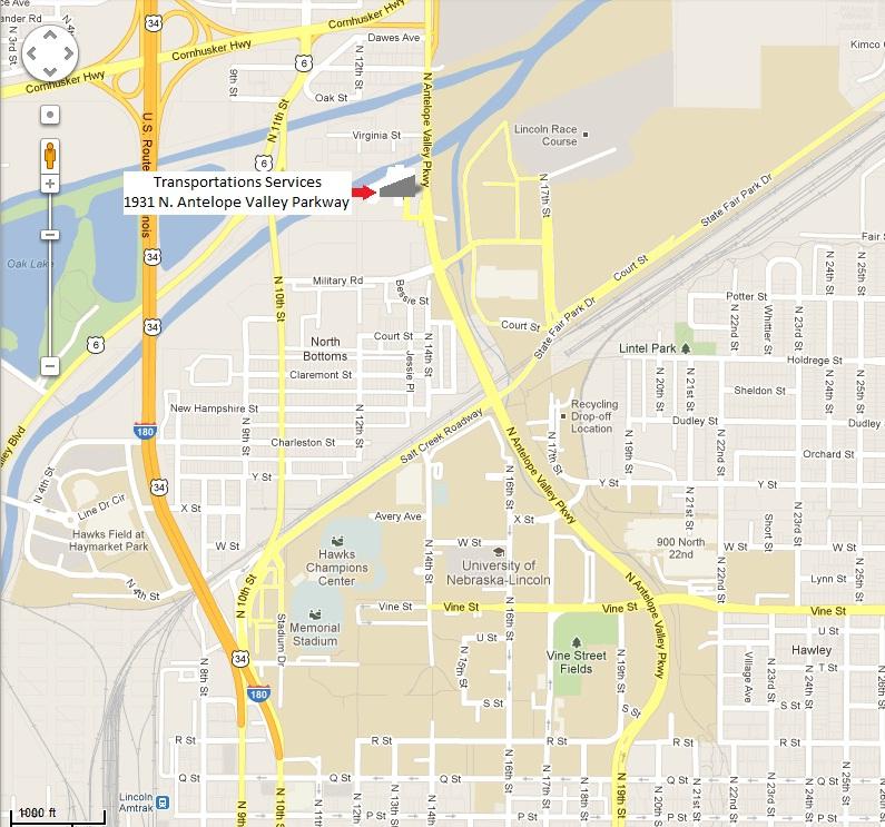 Map  Transportation Services  University of NebraskaLincoln